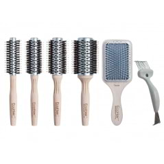 Trousse de 5 brosses en bambou Eco Hair